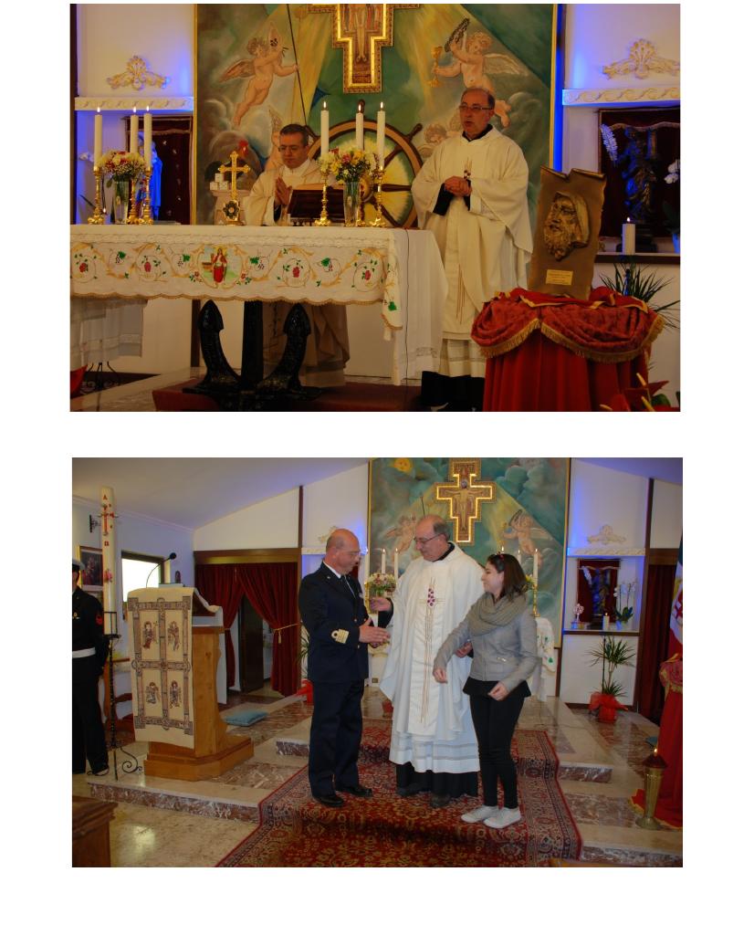 Messina.Traslazione della scultura itinerante di San Francesco di Paola dal Comando 6^ Squadriglia G.C. alla Chiesa Santa Barbara