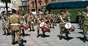 Milazzo, Fanfara  e  Banda della Brigata Aosta di Messina in città