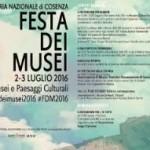 Cosenza, festa dei Musei 2016