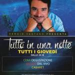 Serata con Sergio Vastano ogni giovedì a Vulcano