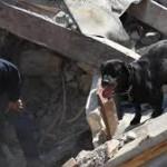 Il cane Leo della Polizia di Stato individua e salva dalle macerie la piccola Giorgia