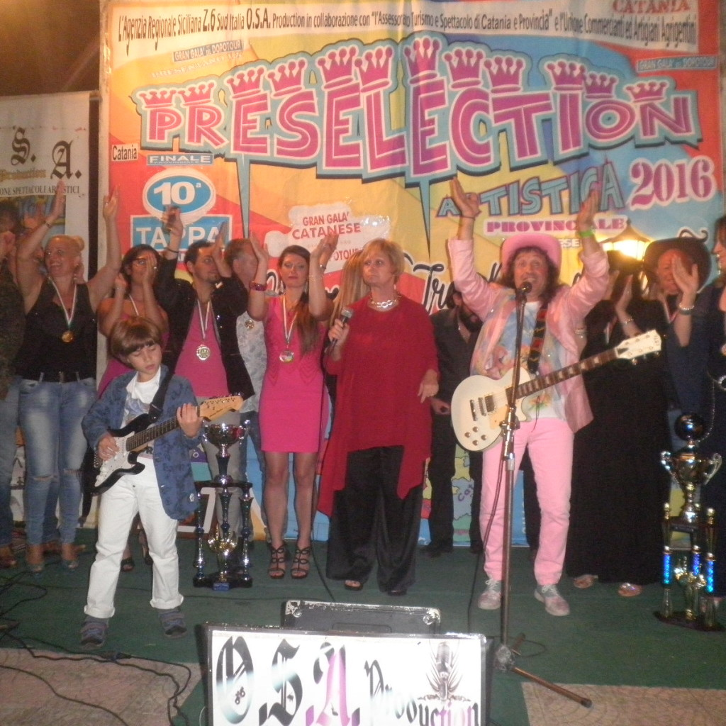 Gran Galà provinciale della preselection artistica Osa Production catanese