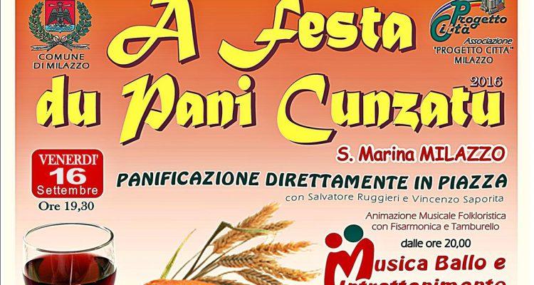 """Santa Marina Milazzo, venerdì 16 settembre la """"Festa du pani cunzato"""""""