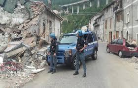 Servizi antisciacallaggio della Polizia di Stato nelle zone terremotate