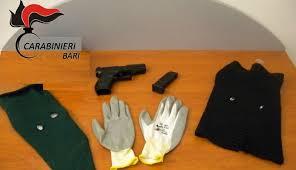 TURI (BA). Due giovani rapinatori in azione. Arrestati dai  Carabinieri prima del colpo ad un supermercato.