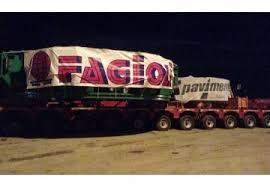 La Polizia di Stato scorta il trasporto della fresa più grande d´Europa