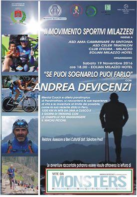 Sabato 19 incontro del Movimento sportivi milazzesi con De Vicenzi