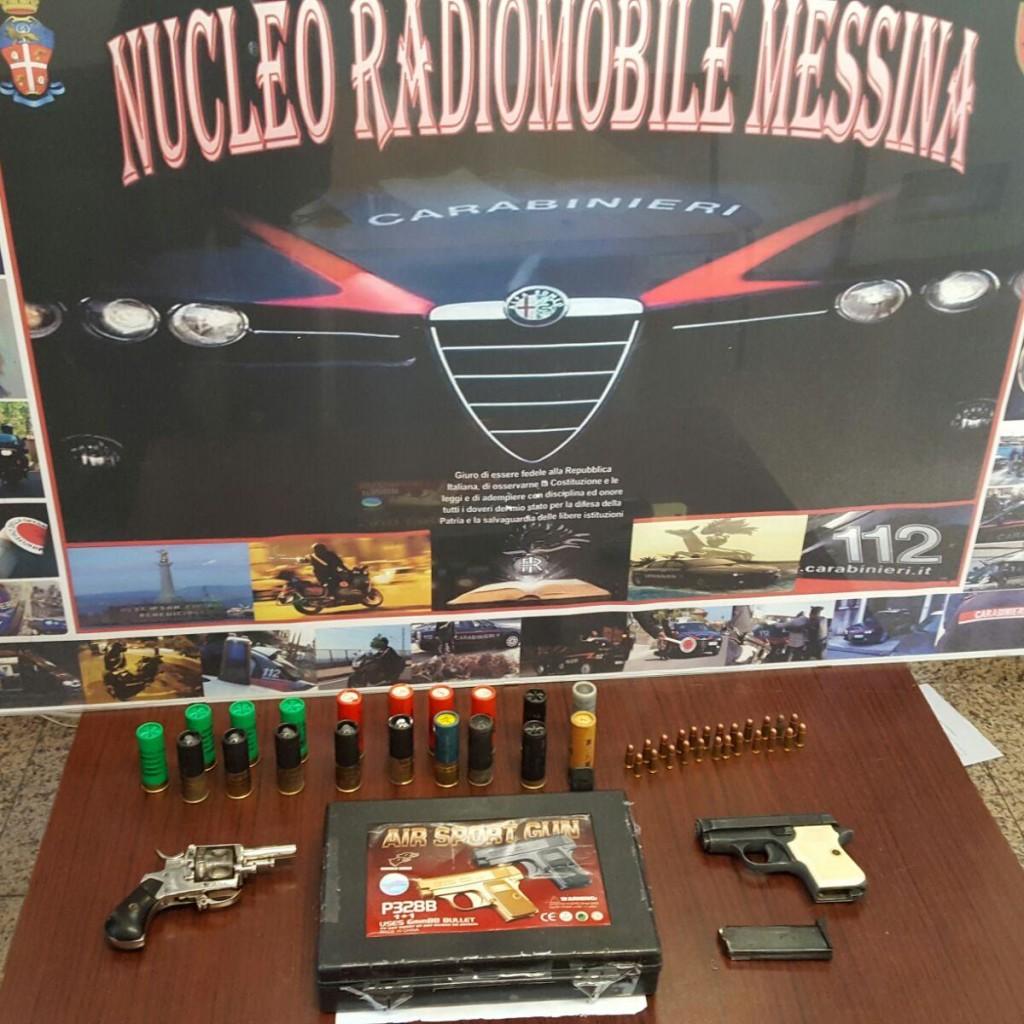 Messina: armi e munizioni rinvenute dai Carabinieri
