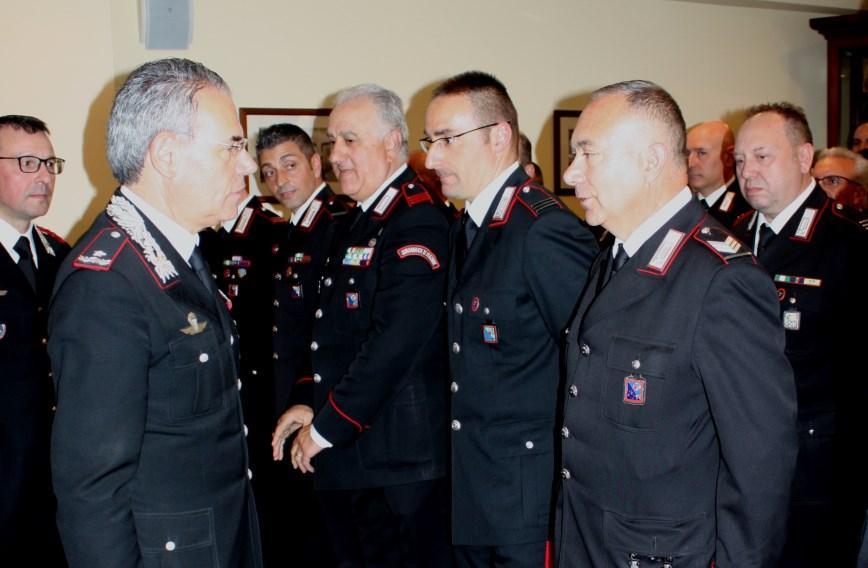 Il Generale dei Carabinieri Andrea Rispoli in visita a Viterbo