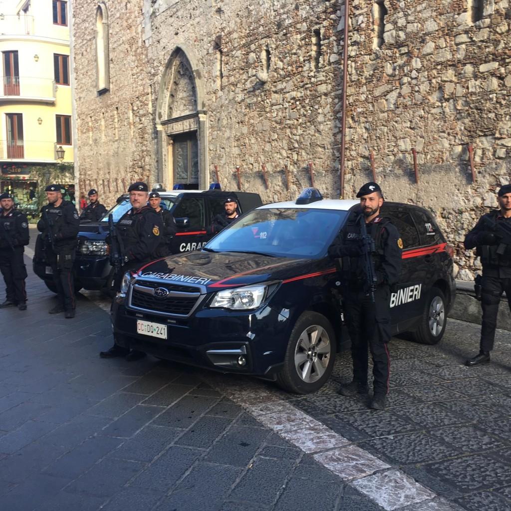 Taormina. L'arma dei carabinieri aumenta i controlli antiterrorismo: nella perla gia' presenti le squadre operative di supporto