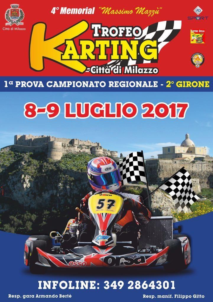 Torna il memorial Mazzù di Karting l'8 ed il 9 luglio nel centro di Milazzo