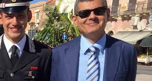 Saluto di commiato del sindaco Formica al dirigente del Commissariato di Ps., Antonio Rugolo