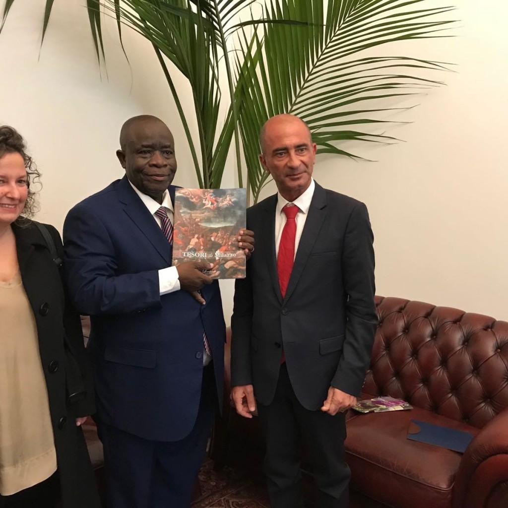 Visita dell'ambasciatore del Congo al Comune di Milazzo