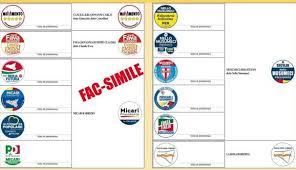 Scheda elettorale elezioni siciliane dal vero