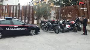 Terlizzi (BA). Scovato dai Carabinieri un garage colmo di moto rubate. Denunciato il proprietario per ricettazione e riciclaggio