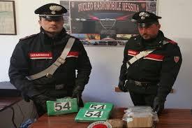 Messina: Carabinieri arrestano corriere di Melicuccà (Rc) che trasportava 6 kg di droga tra cocaina ed eroina