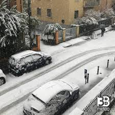 Nevica intensamente sulla A1 Panoramica e sulla A14 tra Bologna e Faenza