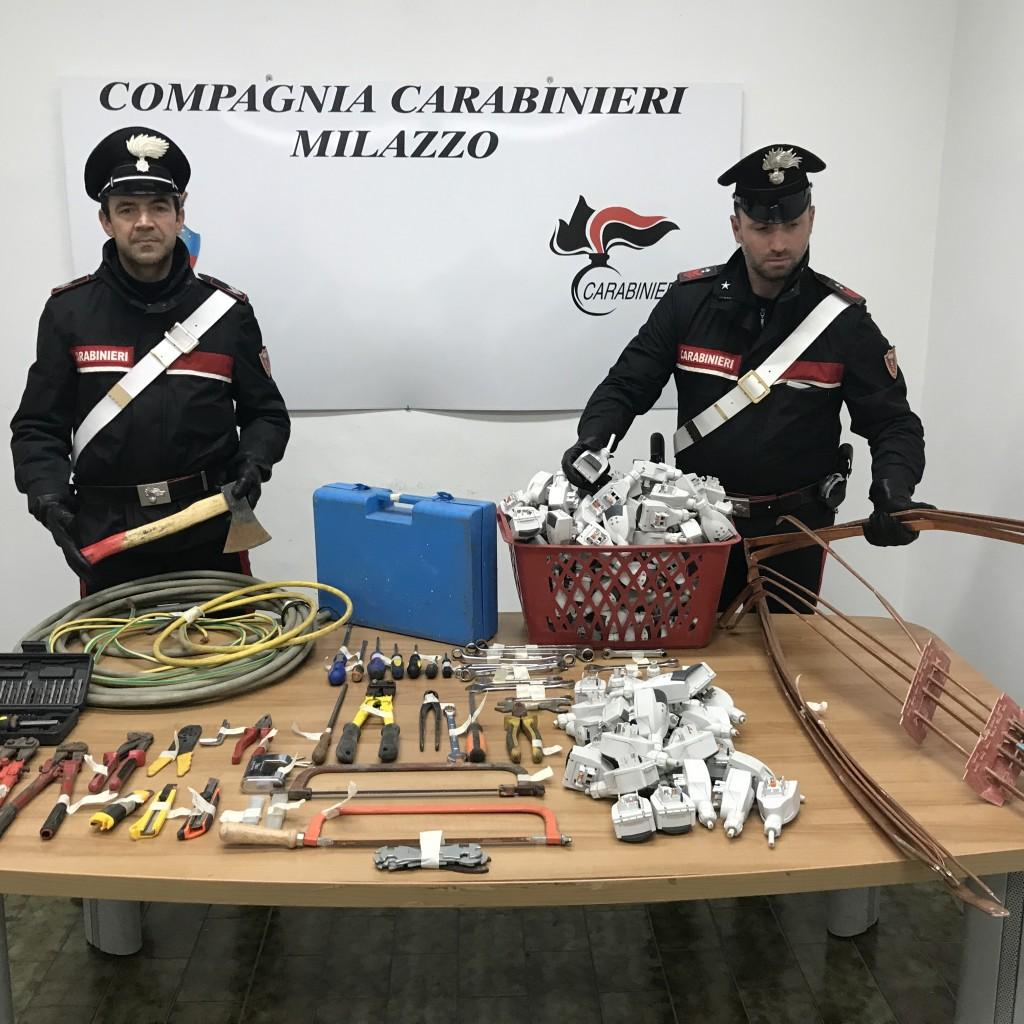 Pace del Mela (ME); i Carabinieri arrestano una banda di ladri rumeni per tentato furto aggravato