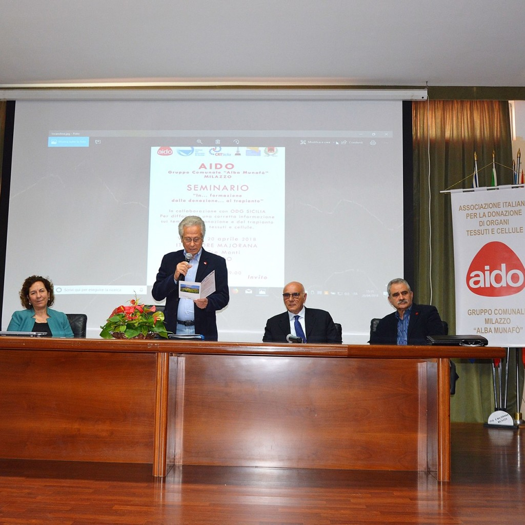 """""""In…formazione: dalla donazione al trapianto"""", seminario promosso dall'Aido"""