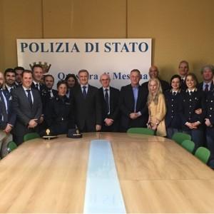 La Questura di Messina accoglie il nuovo Vicario del Questore, Primo Dirigente della Polizia di Stato Nicola Spampinato