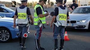 Contrasto della Polizia Stradale della guida in stato di alterazione