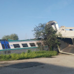Foto incidente ferroviario località caluso