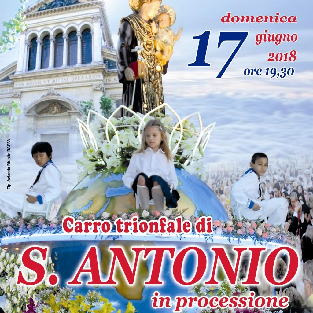 Messina tra Fede, Arte e Turismo Religioso. I festeggiamenti in onore di S. Antonio di Padova  Il Carro Trionfale del Santo in processione