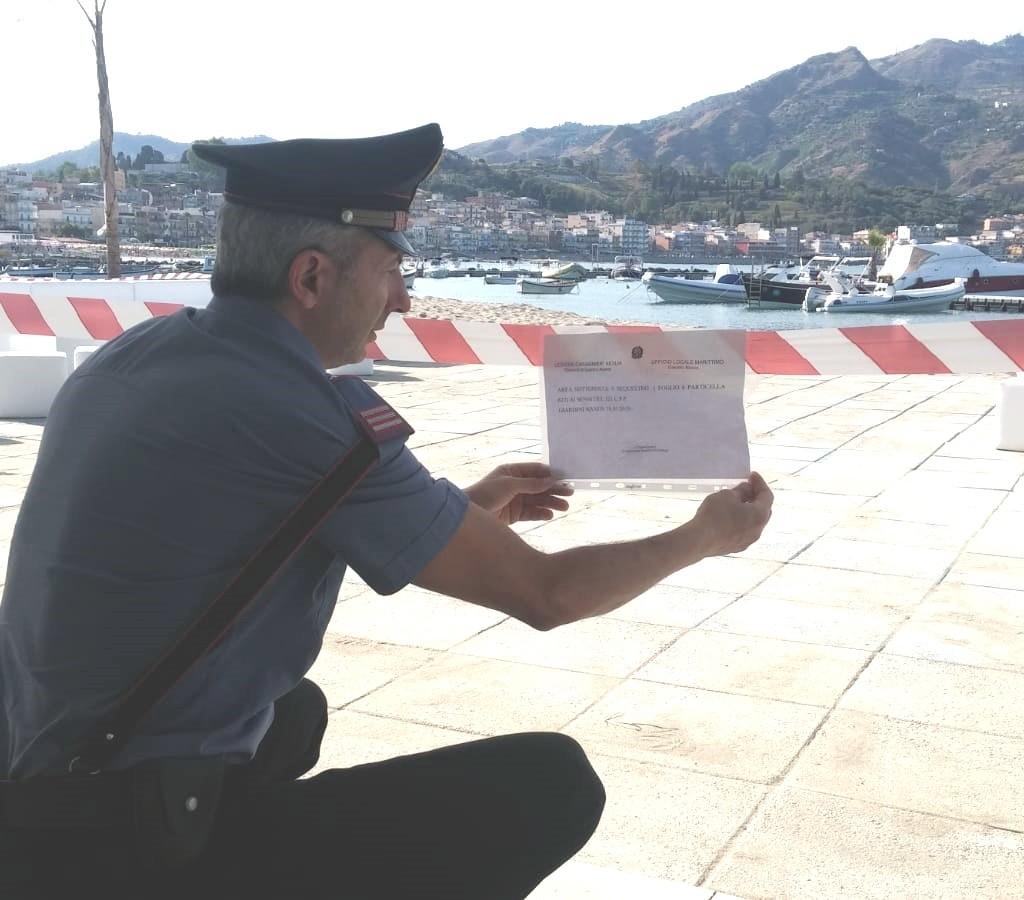 Giardini naxos. carabinieri impegnati nella lotta all'abusivismo edilizio e all'occupazione del suolo demaniale