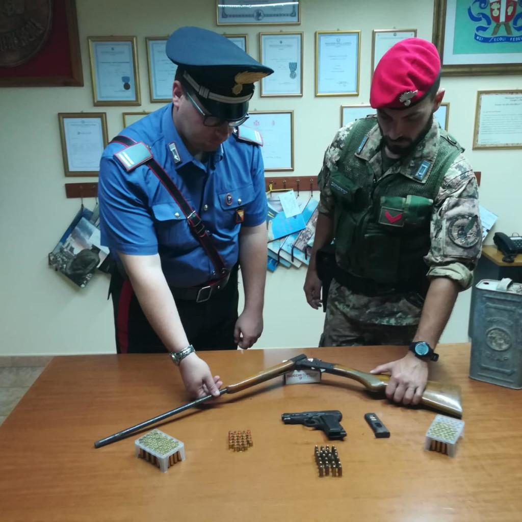 Detenzione illegale di armi e munizioni. Arrestato 66enne a Santa Lucia del Mela