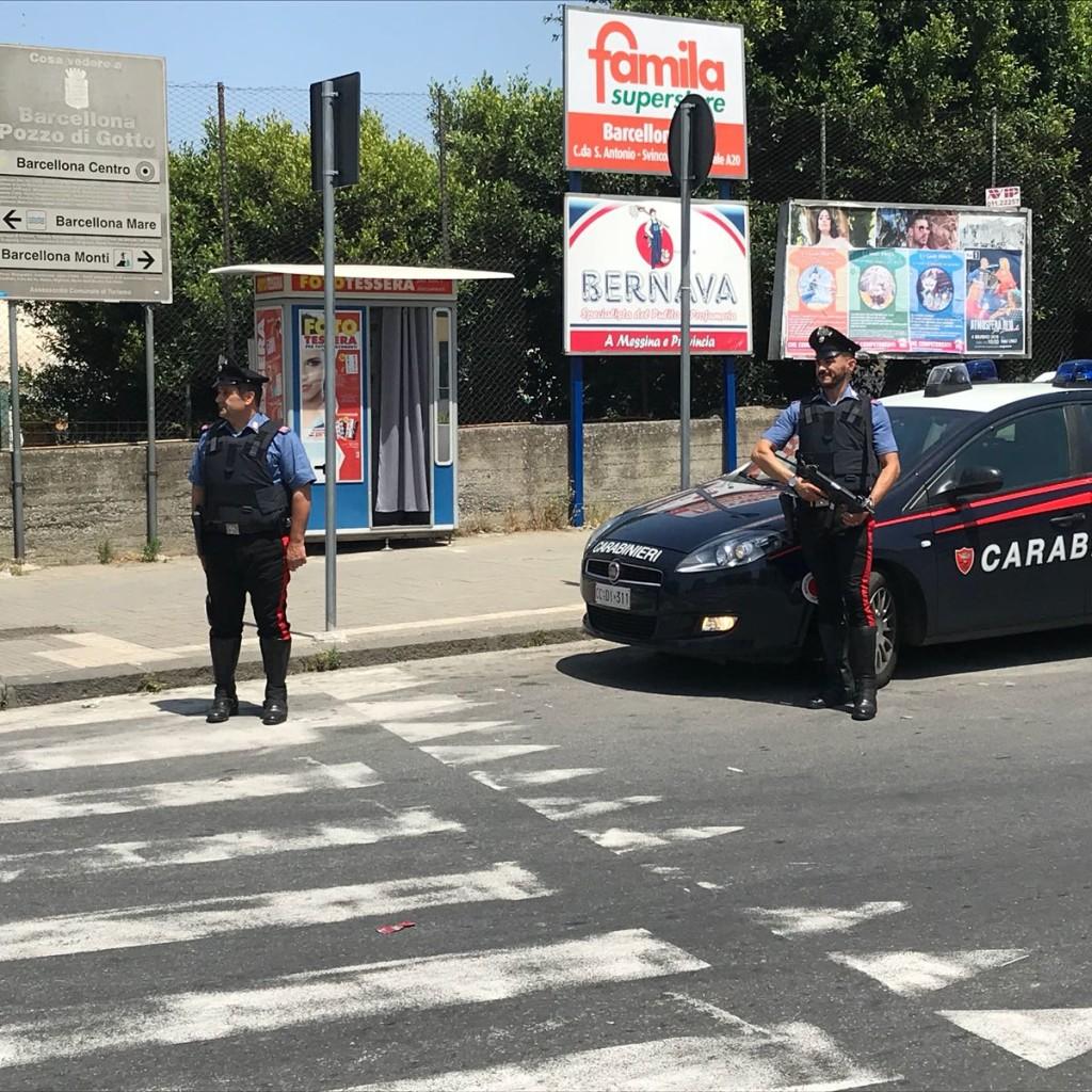 Controlli straordinari dei Carabinieri della Compagnia di Sant'Agata di Militello