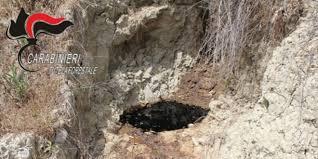 TURSI: Sequestrata discarica comunale dai Carabinieri Forestali.  Il percolato che fuoriusciva dalla discarica sversava nel torrente La Canala