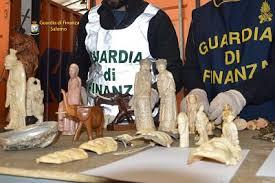 GDF SALERNO: MAXI SEQUESTRO DI AVORIO E REPERTI ARCHEOLOGICI