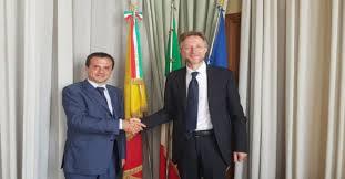 Palazzo dei Leoni, visita di cortesia del Console generale di Ucraina a Napoli Viktor Hamotskyi