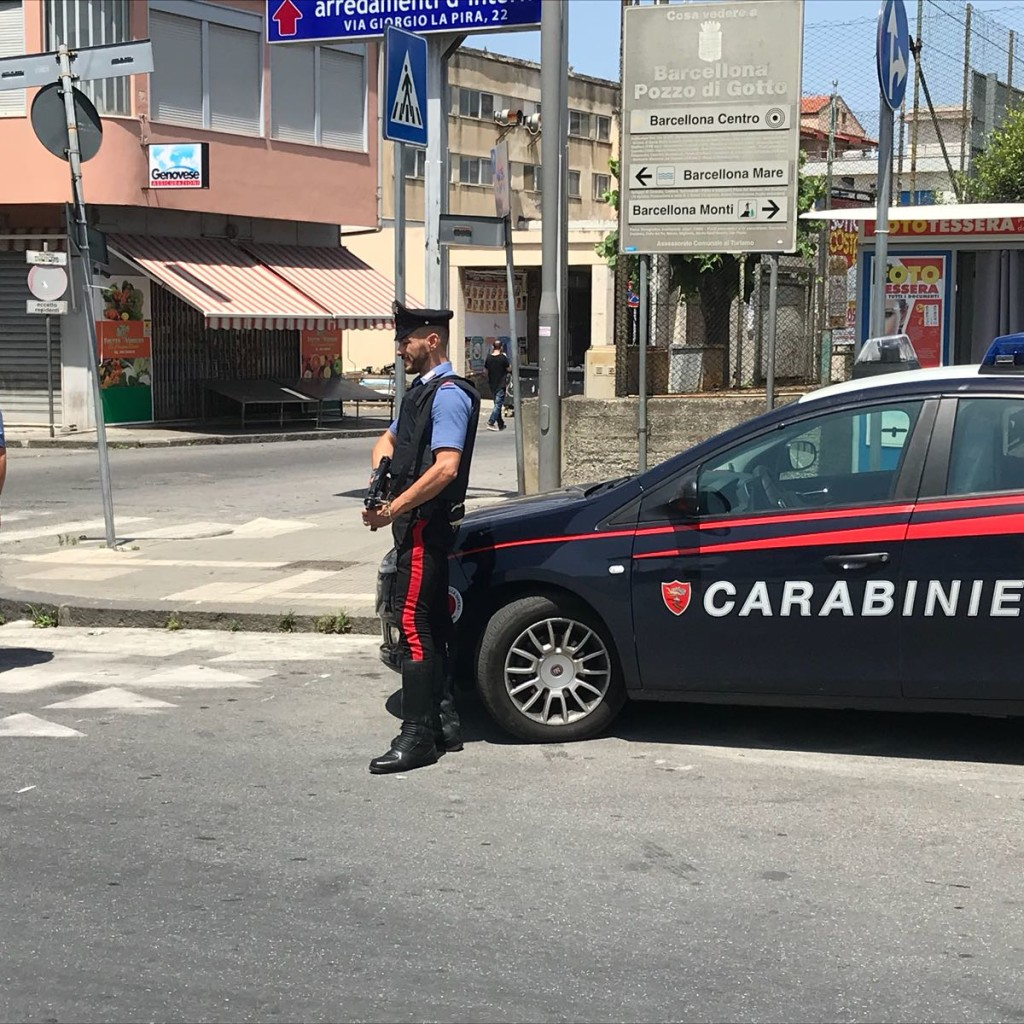 Carabinieri Barcellona P.G.,  arrestato storico capomafia per associazione mafiosa ed evasione:  agli arresti domiciliari, gestiva gli interessi della famiglia mafiosa