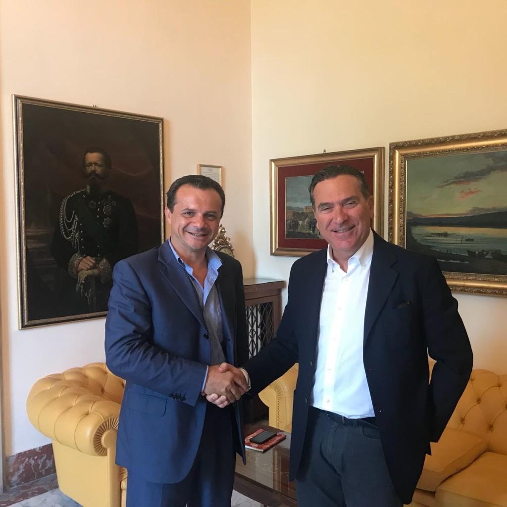 Questa mattina l'incontro tra il presidente della Camera di Commercio Blandina e il sindaco De Luca di Messina