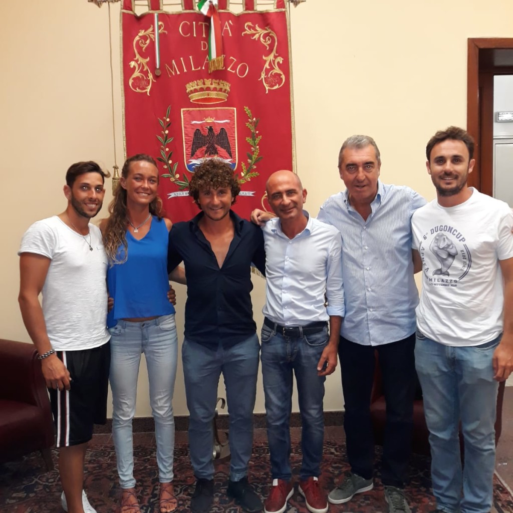 L'Amministrazione di Milazzo incontra i due atleti che hanno fatto il record di apnea