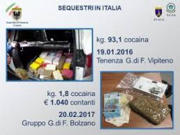 """GUARDIA DI FINANZA: OPERAZIONE """"ALBA BIANCA"""": STRONCATO TRAFFICO INTERNAZIONALE DI DROGA TRA NORD EUROPA E ITALIA"""