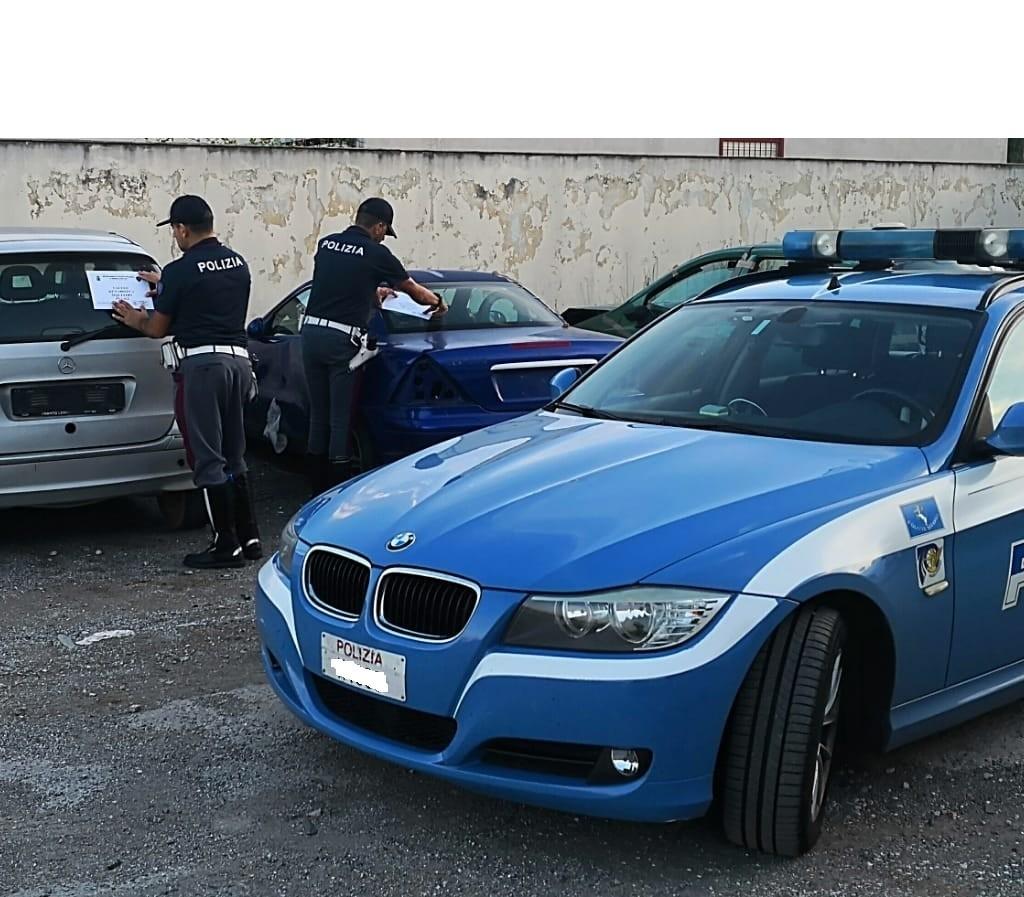 La Polizia di Stato scopre centro abusivo di rottamazione veicoli. Tre le persone denunciate e undici le autovetture sequestrate
