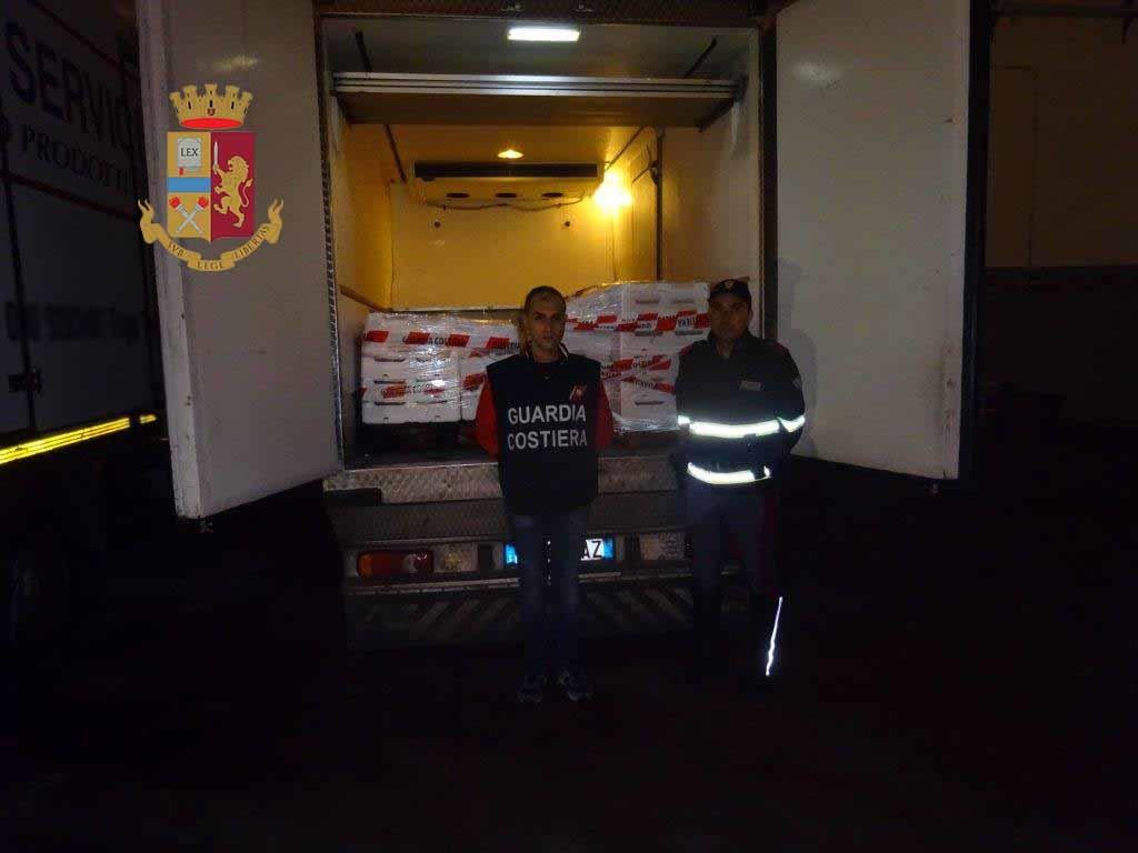 Barcellona P.G.,  Polizia di Stato e Guardia Costiera sequestrano 300 kg di pesce