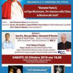 Nella parrocchia San Giovanni Paolo II di Porto Salvo, Barcellona PG, a partire da venerdì 19 avrà inizio il Triduo di preparazione in onore della festa liturgica di San Giovanni Paolo II, nel 40° Anniversario dall'Elezione a Sommo Pontefice