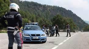 La Polizia di Stato di Orte ferma rapinatori in fuga sull'autostrada