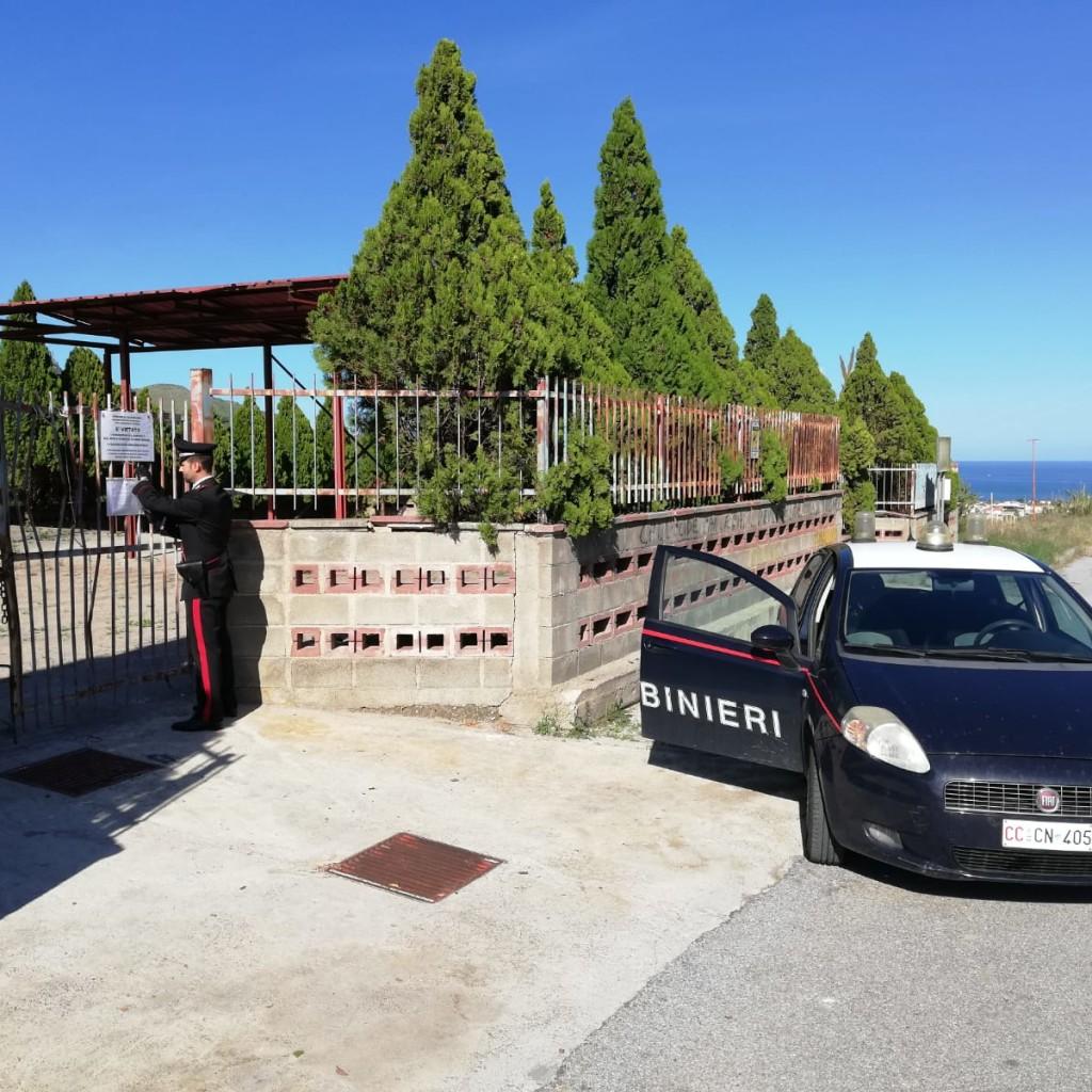 Barcellona P.G.(ME): i Carabinieri di Falcone hanno sequestrato un'isola ecologica del comune di Oliveri per violazioni nella gestione della raccolta dei rifiuti