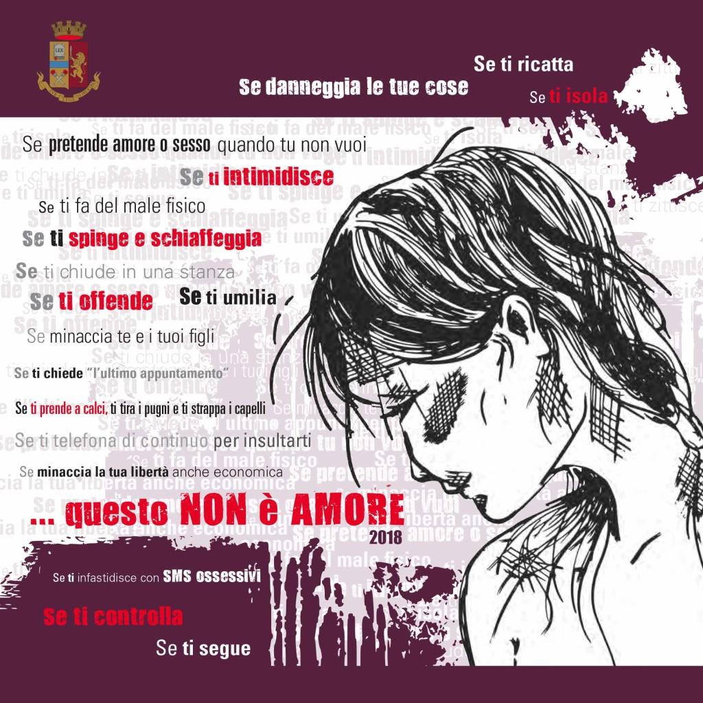 """""""Questo non è amore"""": la Questura di Messina ritorna con la sua campagna di sensibilizzazione contro la violenza sulle donne. Martedì 27 novembre doppio appuntamento: ore 10:15 presso il complesso di Polizia Calipari; ore 16:00 con il Camper della Polizia di Stato presso Piazza Cairoli"""