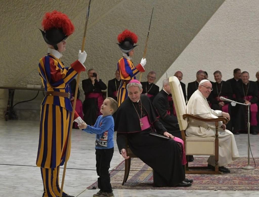 L'emozione di vivere l'udienza di Papa Francesco