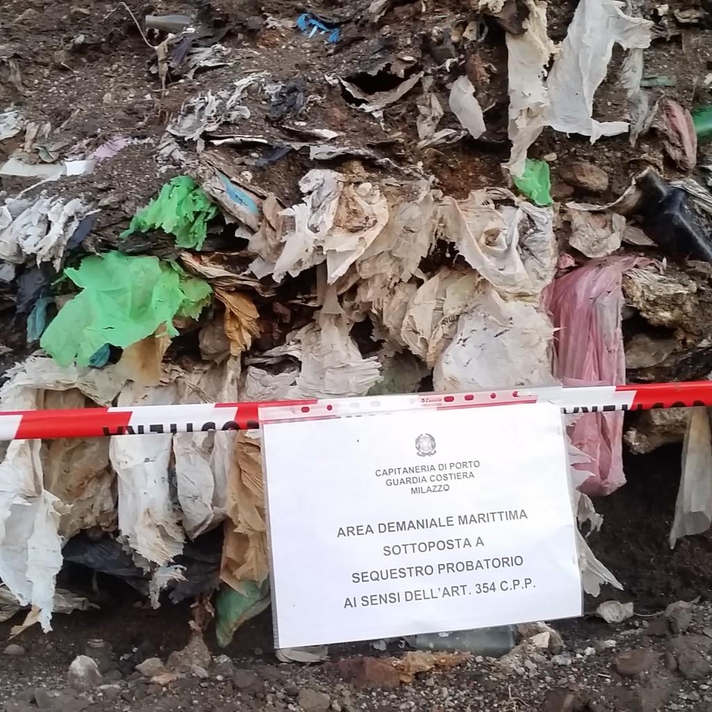 CAPITANERIA DI PORTO M I L A Z Z O. Gestione illecita e abbandono di rifiuti. Sequestri e denunce della Guardia Costiera