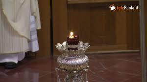 Centenario canonizzazione San Francesco di Paola, l'accensione del cero votivo