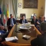 Palazzo dei Leoni, riunione tecnica per l'attivazione del collegamento tra le Isole Eolie e l'aeroporto di Reggio Calabria
