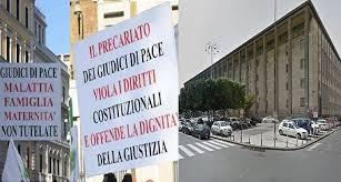 Catania, una manifestazione dei Magistrati onorari per l'astensione dalle udienze dal 6 al 17 maggio