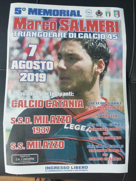 A Milazzo arriva il Catania, per onorare il ricordo di Marco Salmeri