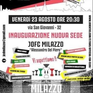 A Milazzo (Me) è stata inaugurata la nuova sede dello Juventus Official Fan Club. Anche Radio Bianconera si collegherà con la nuova casa.